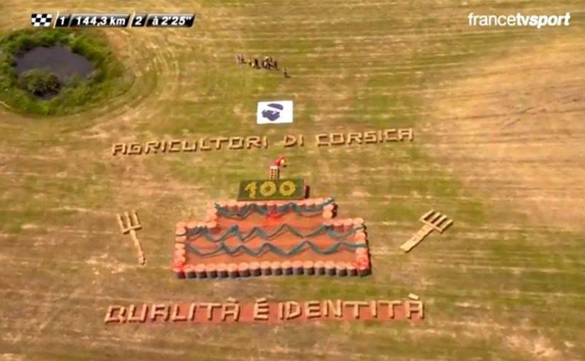 Tour de France : U rigalu di u Sindicatu Ghjovani Agricultori di Corsica Suttana
